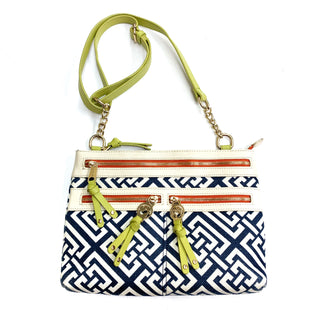 Primary Photo - BRAND: SPARTINA STYLE: HANDBAG DESIGNER COLOR: WHITE BLUE SIZE: SMALL OTHER INFO: CREAM AND BLUE, AS IS SKU: 180-18083-21219