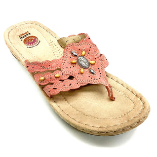 Primary Photo - BRAND: EARTH STYLE: FLIP FLOPS COLOR: CORAL SIZE: 9 SKU: 180-18038-99545