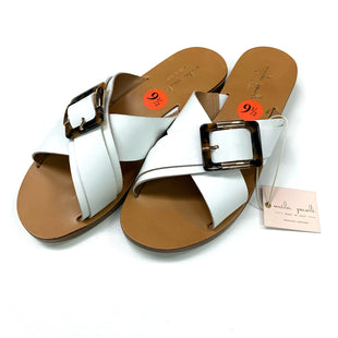 Primary Photo - BRAND: MILA PAOLI STYLE: SANDALS FLAT COLOR: WHITE SIZE: 9.5 OTHER INFO: MILA PAOLI - SKU: 180-18083-25515