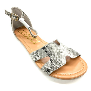 Primary Photo - BRAND:    CCOCCI STYLE: SANDALS FLAT COLOR: SNAKESKIN PRINT SIZE: 8 OTHER INFO: CCOCCI - SKU: 180-18038-94719