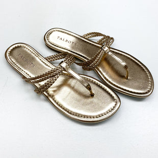 Primary Photo - BRAND: TALBOTS O STYLE: FLIP FLOPS COLOR: GOLD SIZE: 9 SKU: 180-18038-100811