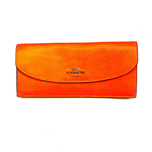 Primary Photo - BRAND: COACH STYLE: WALLET COLOR: ORANGE SIZE: MEDIUM OTHER INFO: DESIGNER SKU: 180-18071-7733