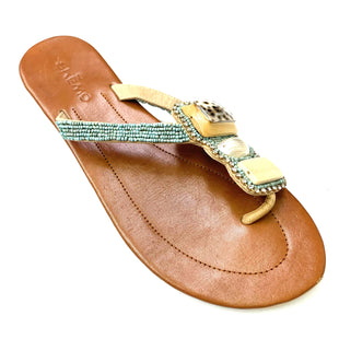 Primary Photo - BRAND:  SKEMOSTYLE: FLIP FLOPS COLOR: TAN SIZE: 9 OTHER INFO: SKEMO - AS IS LEATHER SKU: 180-18038-99164