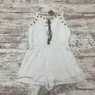 Primary Photo - BRAND: EARTHBOUND STYLE: DRESS SHORT SLEEVELESS COLOR: CREAM SIZE: L OTHER INFO: ROMPER SKU: 180-18057-13479