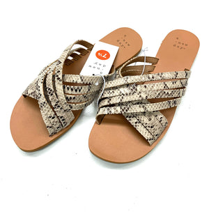Primary Photo - BRAND: A NEW DAY STYLE: SANDALS FLAT COLOR: SNAKESKIN PRINT SIZE: 7.5 SKU: 180-18083-24186