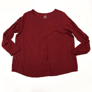 Primary Photo - BRAND: MAURICES STYLE: TOP LONG SLEEVE COLOR: BURGUNDY SIZE: 2X SKU: 180-18038-105332