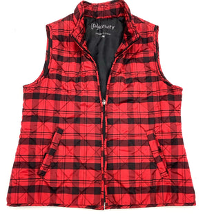 Primary Photo - BRAND: RELATIVITY STYLE: VEST COLOR: RED BLACK SIZE: PETITE  MEDIUM SKU: 180-18071-7061