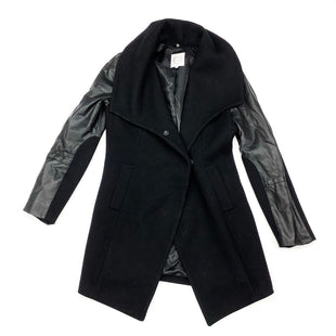 Primary Photo - BRAND:  CMA STYLE: COAT WOOL COLOR: BLACK SIZE: M OTHER INFO: DAWN LEVY 2- CECE WOOL COAT W/FAUXLEATHER SLEEVES SKU: 180-18083-22338