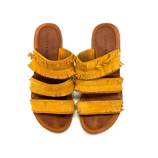 Primary Photo - BRAND: LUCKY BRAND STYLE: SANDALS FLAT COLOR: YELLOW SIZE: 6 OTHER INFO: AS IS SKU: 180-18038-103280