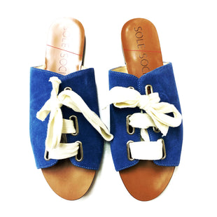 Primary Photo - BRAND: SOLE SOCIETY STYLE: SANDALS FLAT COLOR: BLUE SIZE: 8.5 SKU: 180-18083-22680