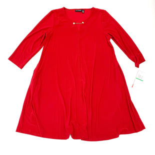 Primary Photo - BRAND: NINA LEONARD STYLE: DRESS SHORT LONG SLEEVE COLOR: RED SIZE: L SKU: 180-18038-104479