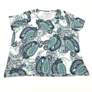 Primary Photo - BRAND: CROFT AND BARROW STYLE: TOP SHORT SLEEVE COLOR: AQUA SIZE: 1X SKU: 180-18038-104653