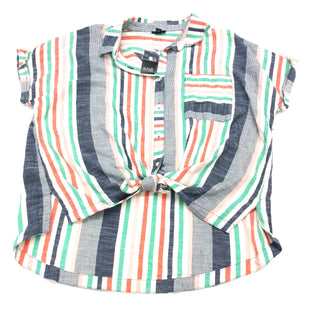 Primary Photo - BRAND: ANA STYLE: BLOUSE SHORT SLEEVE COLOR: STRIPED SIZE: L SKU: 180-18071-5204