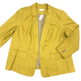 Primary Photo - BRAND: ANN TAYLOR LOFT STYLE: BLAZER JACKET COLOR: MUSTARD SIZE: 2X OTHER INFO: (24) SKU: 180-18038-84175YELLOW-GREEN COLOR
