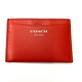 Primary Photo - BRAND: COACH STYLE: COIN PURSE COLOR: RED SIZE: SMALL SKU: 180-18083-20915