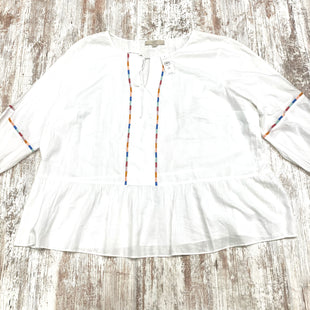 Primary Photo - BRAND: ANN TAYLOR LOFT STYLE: TOP LONG SLEEVE COLOR: WHITE SIZE: 2X OTHER INFO: (24) SKU: 180-18038-92605
