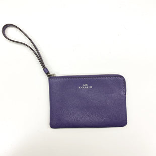 Primary Photo - BRAND: COACH STYLE: WALLET COLOR: PURPLE SIZE: SMALL SKU: 180-18071-7812