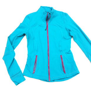 Primary Photo - BRAND: LULULEMON STYLE: ATHLETIC JACKET COLOR: TURQUOISE SIZE: S OTHER INFO: DESIGNER SKU: 180-18038-92170