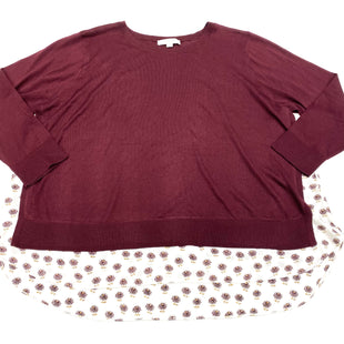 Primary Photo - BRAND: ANN TAYLOR LOFT STYLE: SWEATER LIGHTWEIGHT COLOR: BURGUNDY SIZE: 2X SKU: 180-18038-92543