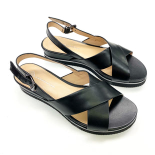 Primary Photo - BRAND: ANTONIO MELANI STYLE: SANDALS FLAT COLOR: BLACK SIZE: 7.5 SKU: 180-18083-24818