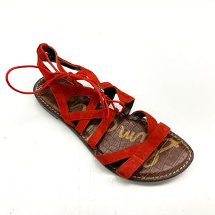 Primary Photo - BRAND: SAM EDELMAN STYLE: SANDALS FLAT COLOR: ORANGE SIZE: 8.5 SKU: 180-18038-92985