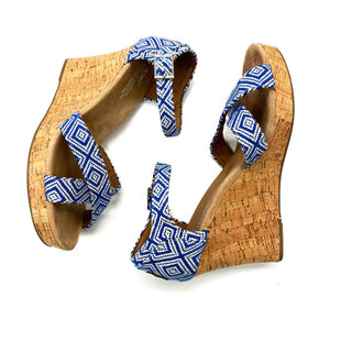 Primary Photo - BRAND: TOMS STYLE: SANDALS LOW COLOR: BLUE WHITE SIZE: 10 OTHER INFO: DESIGNER SKU: 180-18071-10525