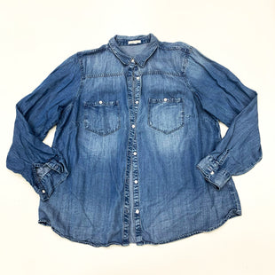 Primary Photo - BRAND: MAURICES STYLE: BLOUSE COLOR: DENIM SIZE: 1X SKU: 180-18038-105334