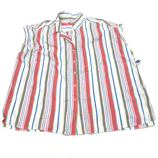 Primary Photo - BRAND: OLD NAVY STYLE: BLOUSE SHORT SLEEVE COLOR: STRIPED SIZE: 3X SKU: 180-18083-24477