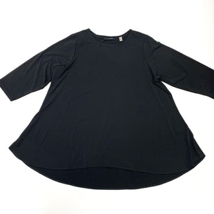 Primary Photo - BRAND: T TAHARI STYLE: TOP LONG SLEEVE COLOR: BLACK SIZE: 1X SKU: 180-18038-105321