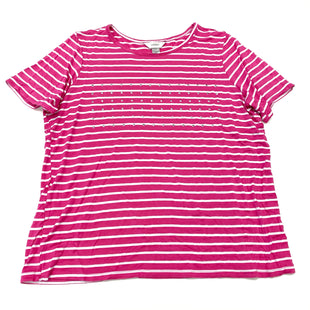 Primary Photo - BRAND: CJ BANKS STYLE: TOP SHORT SLEEVE COLOR: PINK SIZE: 1X SKU: 180-18038-104648