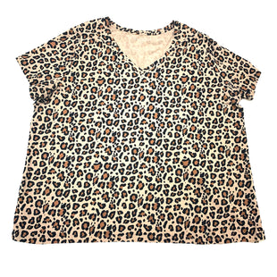 Primary Photo - BRAND: AVA & VIV STYLE: TOP SHORT SLEEVE BASIC COLOR: ANIMAL PRINT SIZE: 4X SKU: 180-18083-25194