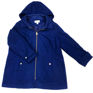 Primary Photo - BRAND: MICHAEL KORS STYLE: COAT WOOL COLOR: NAVY SIZE: 2X SKU: 180-18057-10407