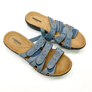 Primary Photo - BRAND: CLARKS STYLE: SANDALS FLAT COLOR: SLATE BLUE SIZE: 8.5 SKU: 180-18083-23864