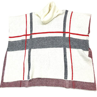 Primary Photo - BRAND:    CLOTHES MENTOR STYLE: PONCHO COLOR: WHITE RED SIZE: L OTHER INFO: KYEMI - SKU: 180-18083-21883