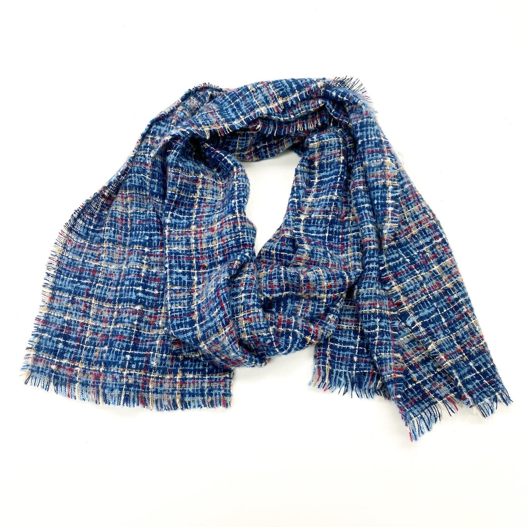 Scarf Winter By Christopher And Banks - BRAND: CHRISTOPHER AND BANKS <BR>STYLE: SCARF WINTER <BR>COLOR: BLUE <BR>SKU: 180-18057-13006