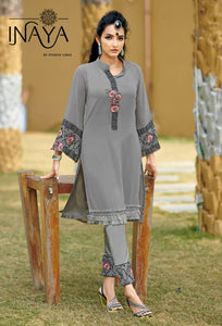 Grey Georgette Embroidered Pant Style Latest Salwar Suits Online Buy