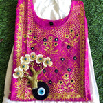 Red and Pink Bandhej and Beige Rayon Combo Kurti Sets