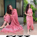 Peach Pink Rayon Fancy Sleeveless Kurtis Pant Suit Online Shopping