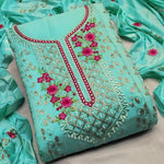 Sea Green Embroidered Georgette Party Dresses Indian Salwar Kameez