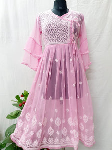 Light pink fancy Georgette gown
