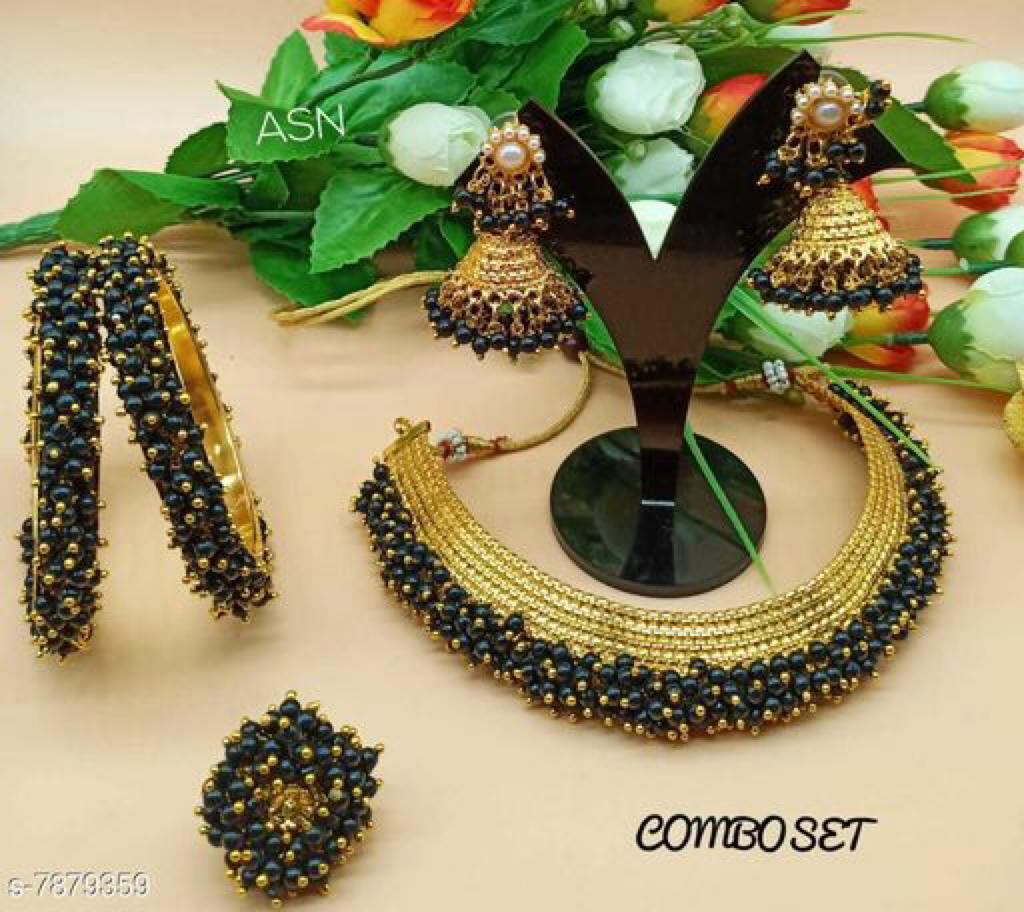 Deep Green Indian Necklace Set Online Fashion Jewelry Stores