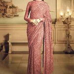 Beautiful Sequined Georgette Combo Party Saree Online Shop