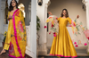 COMBO Beautiful  Mustard Yellow  Cotton Silk Kurta With Plazo & Pure Organza Dupatta