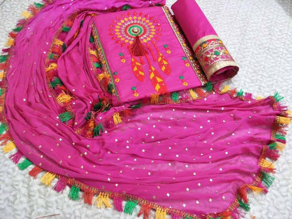 Bright Dark Pink   Exclusive Designer Salwar Suit