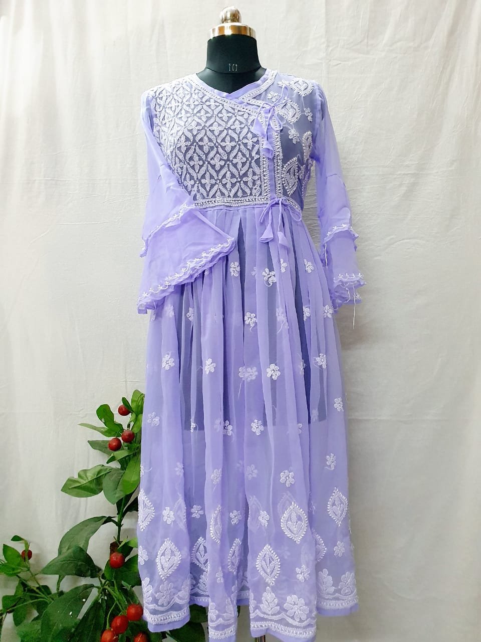 Purple fancy Georgette gown