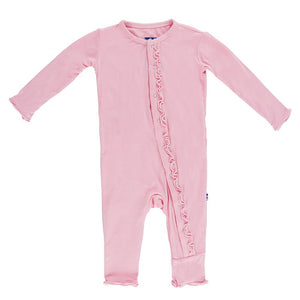 Kickee Pants-Muffin Ruffle Coverall with Zipper Lotus