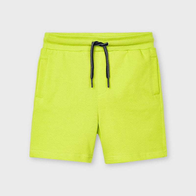 Mayoral Basic Fleece Shorts - Lemon Green
