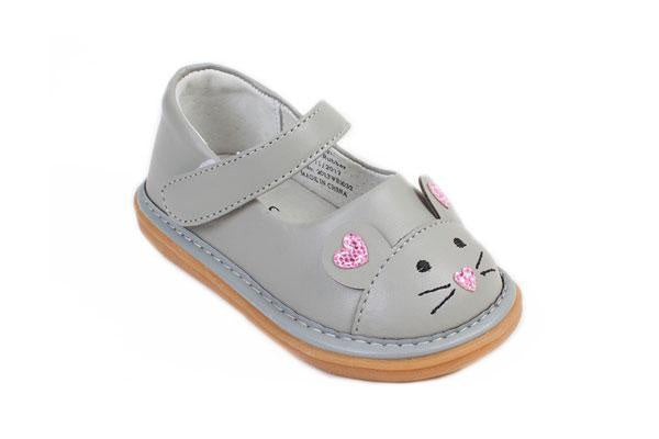 Wee Squeak Mouse Grey Shoes
