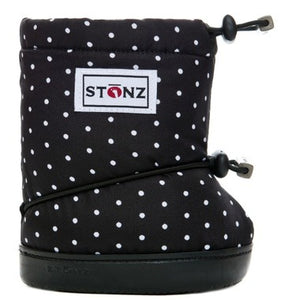 Stonz - Booties - Black & White Polka Dots