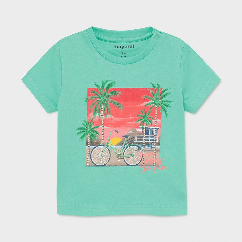 Mayoral Ecofriends Cotton T-Shirt  - Aqua